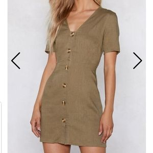 Nwt. Nasty gal burning down the house button dress